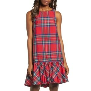 Vineyard Vines Jolly Plaid Amelia Swing Dress - 8